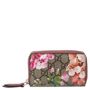 Gucci Multicolor GG Supreme Blooms Canvas Card Case