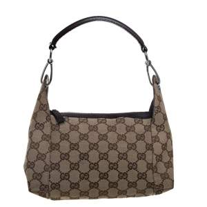 Gucci Beige/Brown GG Canvas and Leather Satchel