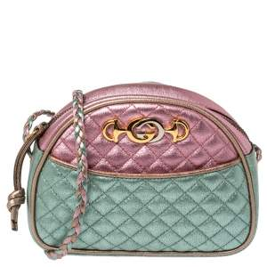 Gucci Tri Color Quilted Leather Mini Trapuntata Crossbody Bag