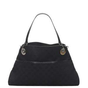Gucci Black GG Canvas Eclipse Shoulder Bag