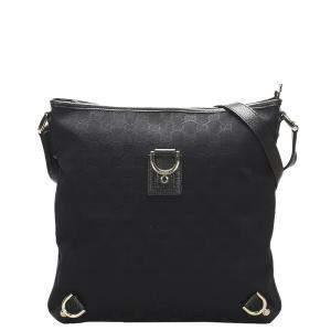 Gucci Black GG Canvas Abbey D-Ring Crossbody Bag