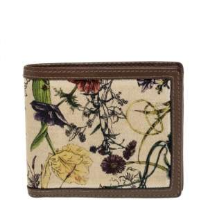 Gucci Multicolor Flora Print Canvas and Leather Bifold Wallet