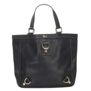 Gucci Black Leather Abbey D-Ring Tote Bag