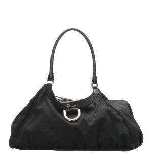 Gucci Black Canvas Abbey D-Ring Shoulder Bag