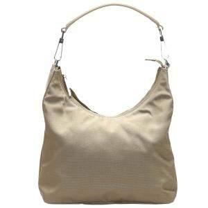 Gucci Brown/Beige Nylon Shoulder Bag