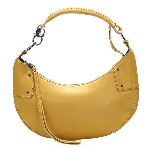 Gucci Yellow Leather Half Moon Hobo bag
