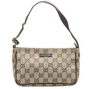 Gucci Brown/Beige GG Canvas Baguette Bag