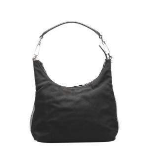 Gucci Black Nylon Hobo Bag