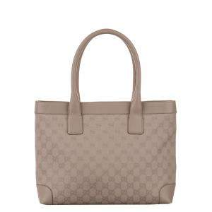 Gucci Brown/Beige GG Canvas Tote Bag