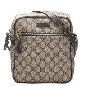 Gucci Beige/Brown GG Supreme Crossbody Bag