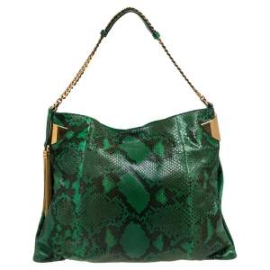 Gucci Green/Black Python Large 1970 Hobo