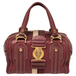 Gucci Red Grain Leather Medium Aviatrix Boston Bag