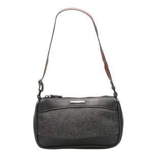 Gucci Black Denim Web Shoulder Bag