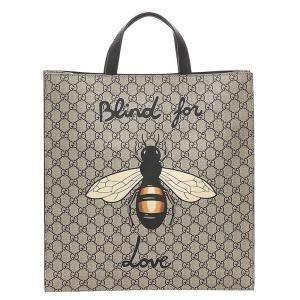 Gucci GG Supreme Canvas Animalier Bag