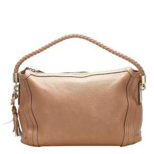 Gucci Brown Leather Bella Hobo Bag