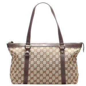 Gucci Beige/Brown GG Canvas Abbey Tote Bag