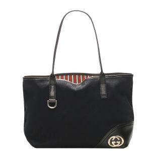 Gucci Black GG Canvas New Britt Tote Bag