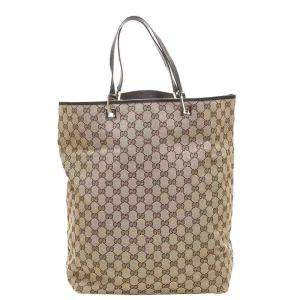 Gucci Beige/Brown GG Canvas Tote Bag