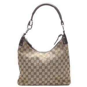 Gucci Beige/Brown GG Canvas Shoulder Bag