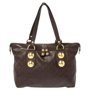 Gucci Brown Guccissima Leather Babouska Heart Tote