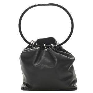 Gucci Black Leather Ring Handle Bag