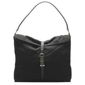 Gucci Black Canvas Jackie Shoulder Bag