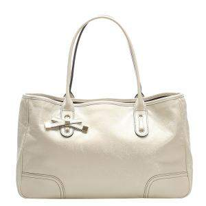 Gucci White Guccissima Leather Princy Tote Bag