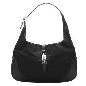 Gucci Black Nylon Jackie Hobo Bag