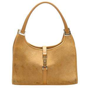 Gucci Brown Suede Jackie Hobo Bag