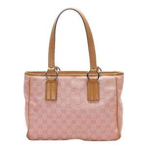 Gucci Pink GG Canvas Tote Bag
