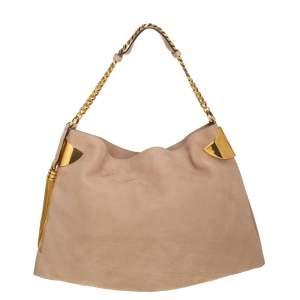 حقيبة غوتشي جلد نوبوك بيج 1970 بشراشيب بيج متوسطة بسلسلة