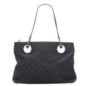 Gucci Black GG Canvas Eclipse Bag