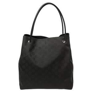 حقيبة يد غوتشي غيفورد شوبر كبيرة نايلون جي جي أسود