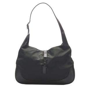 Gucci Black Nylon Jackie Hobo Bag