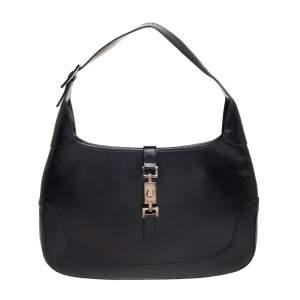 Gucci Black Leather Jackie Hobo
