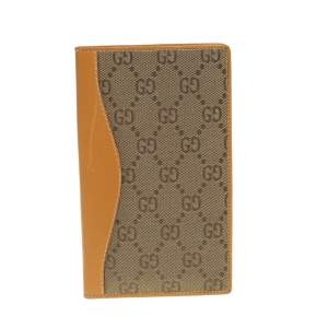 Gucci Beige Supreme Canvas And Leather Wallet