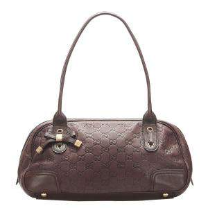 Gucci Brown Guccissima Leather Princy Bag