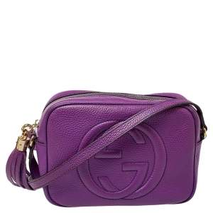 Gucci Purple Leather Soho Disco Crossbody Bag