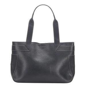 Gucci Black Calf Leather Tote Bag