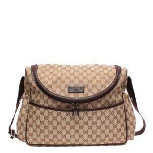 Gucci Beige/Brown GG Canvas Diaper Messenger Bag