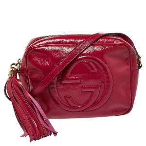 Gucci Pink Patent Leather Soho Disco Crossbody Bag