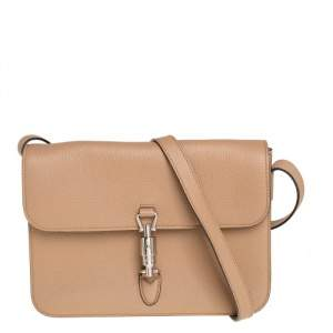Gucci Beige Leather Jackie Crossbody Bag