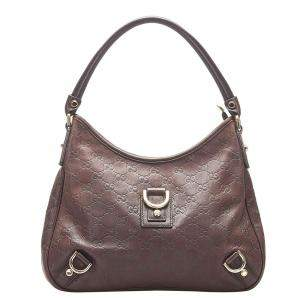 Gucci Brown Guccissima Leather Abbey Hobo Bag