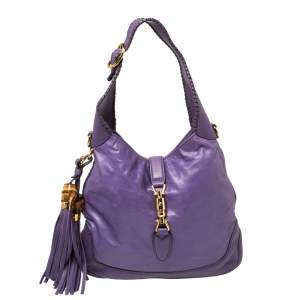 Gucci Violet Leather New Jackie Hobo