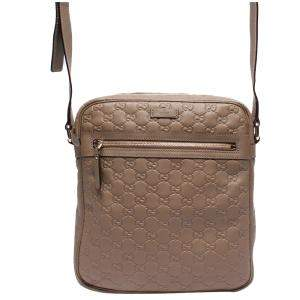 Gucci Beige/Brown Guccissima Leather Messenger Bag