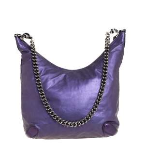 Gucci Purple Leather Galaxy Hobo