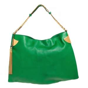 Gucci Green Leather Large Gucci 1970 Shoulder Bag