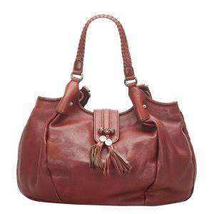 Gucci Brown Leather Marrakech Hobo Bag