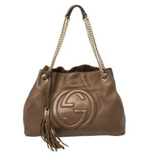 Gucci Brown Leather Medium Soho Tote