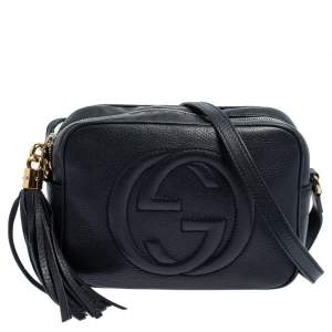 Gucci Blue Leather Soho Disco Crossbody Bag